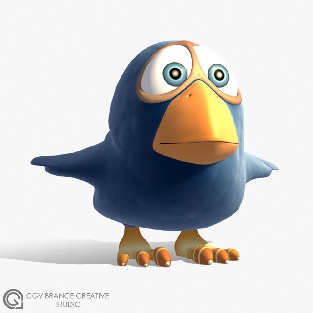 More Stylized Characters Birdie jpg