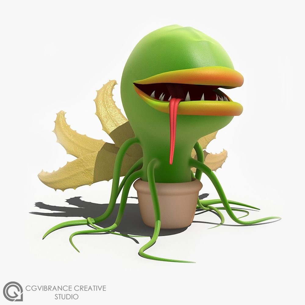 More Stylized Characters MonsterPlant jpg