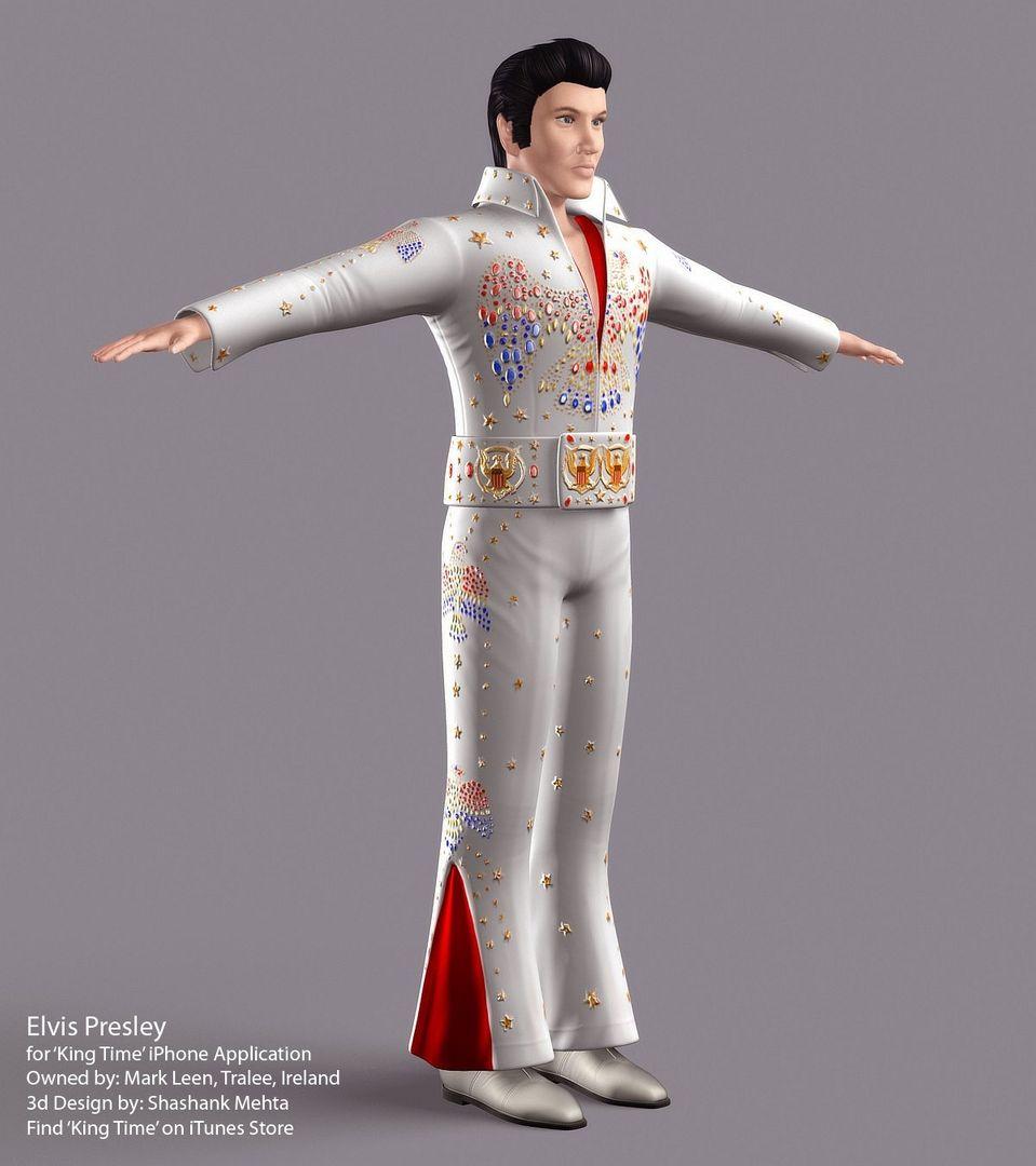 Elvis Presley 3d model AlohaFinal01 jpg