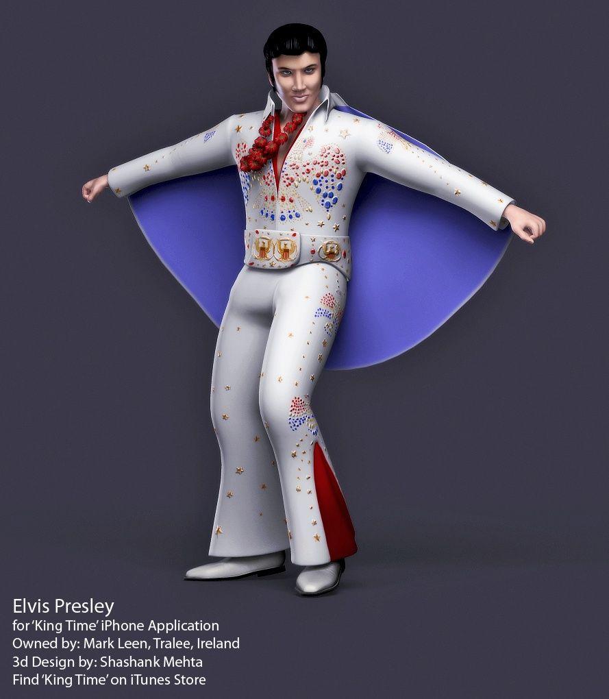Elvis Presley 3d model Aloha Final High jpg