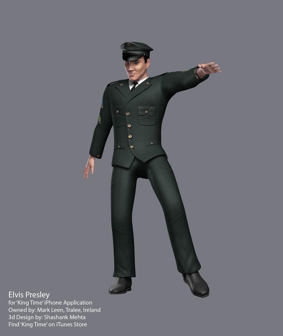 Elvis Presley 3d model ArmyHD jpg