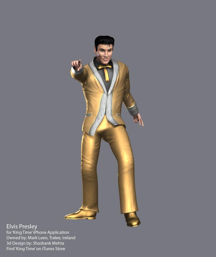 Elvis Presley 3d model GoldHD jpg