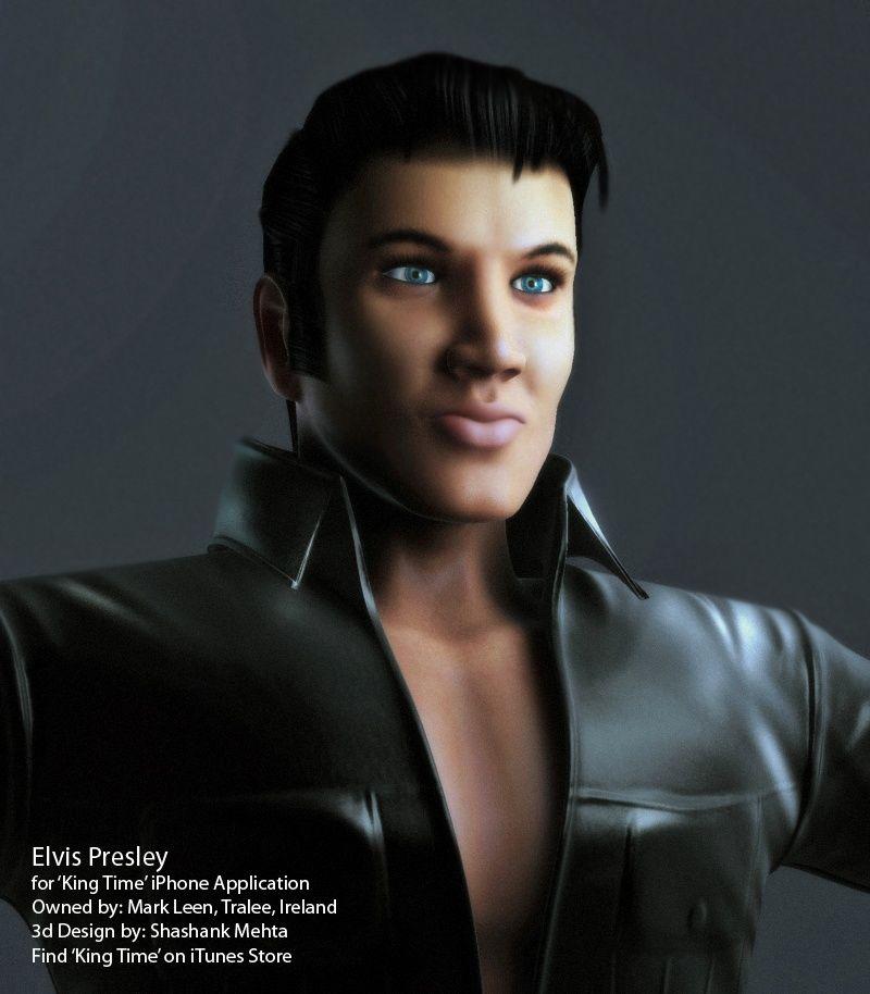 Elvis Presley 3d model LeatherCloseUpFinal jpg