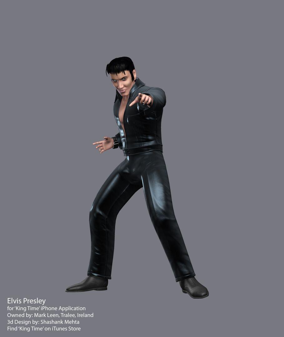 Elvis Presley 3d model LeatherHD jpg