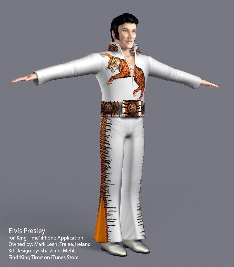 Elvis Presley 3d model TigerFinal jpg