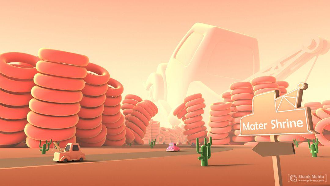 3d scenes from Animations Mater Shrine High upload jpg