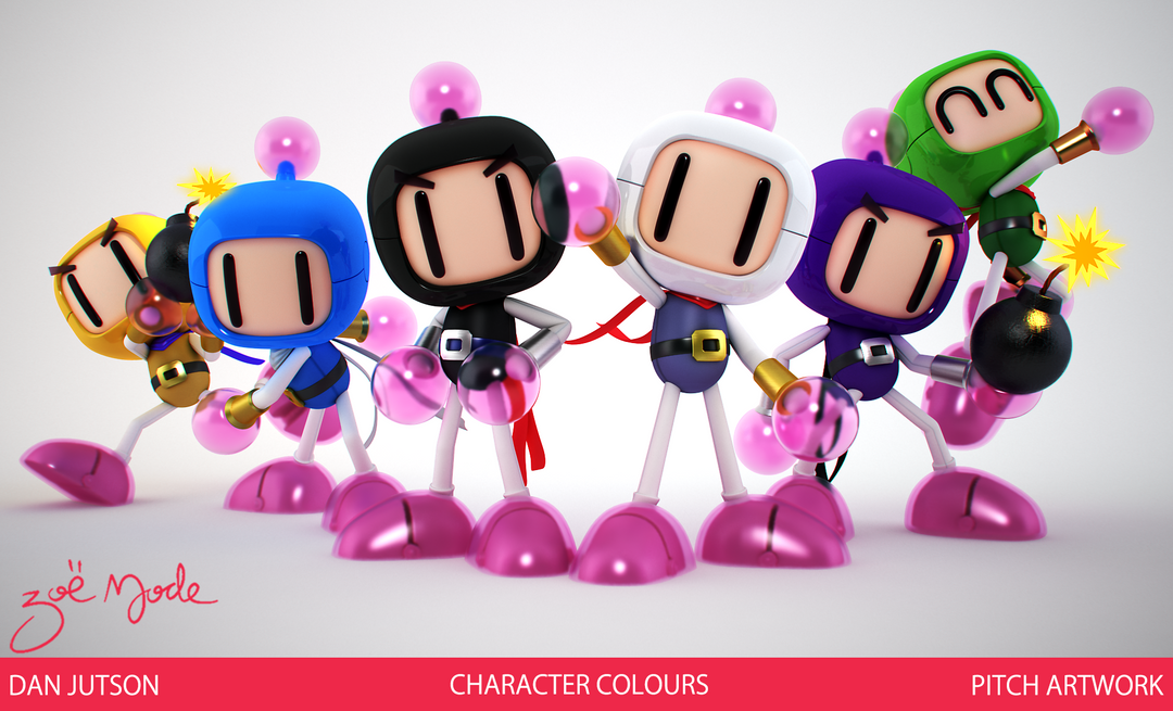 Bomberman character LINEUP png