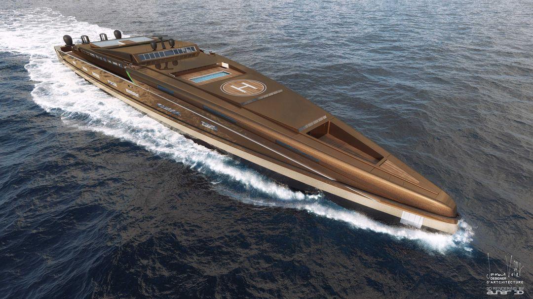 yacht rendering SVX423 tribord Metalic bronze jpg