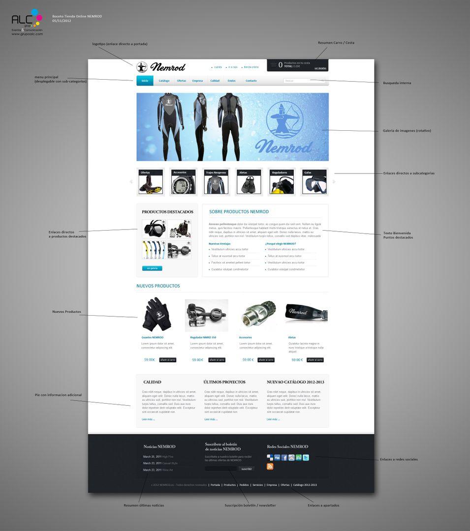 Web Design BocetoTiendaOnline NEMROD GrupoALC jpg