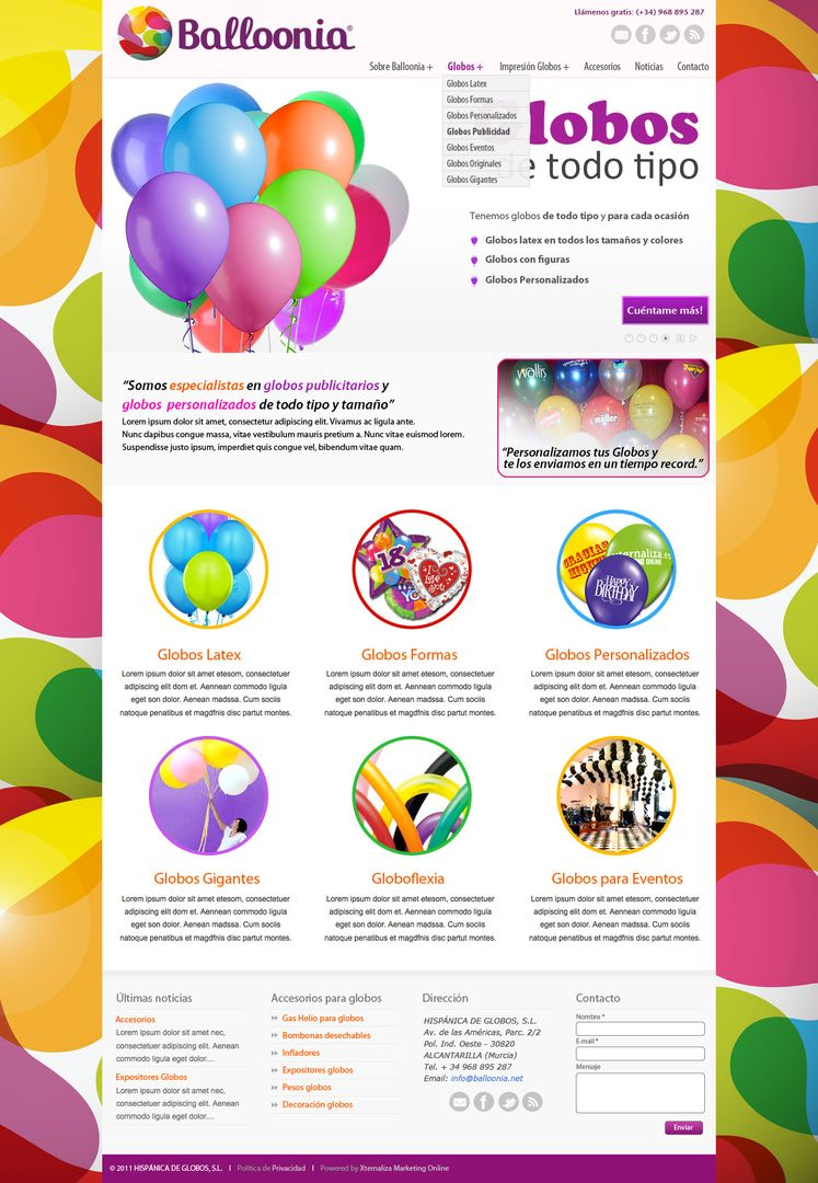 Web Design BocetoWeb Balloonia portada jpg