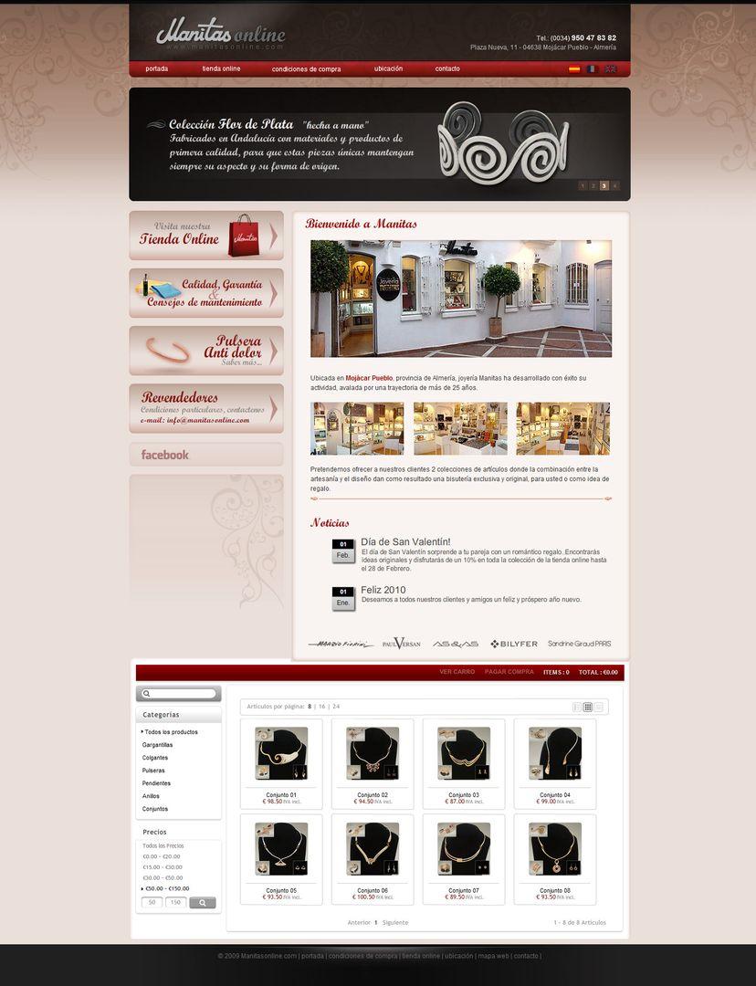 Web Design JoyeriaManitasOnline jpg