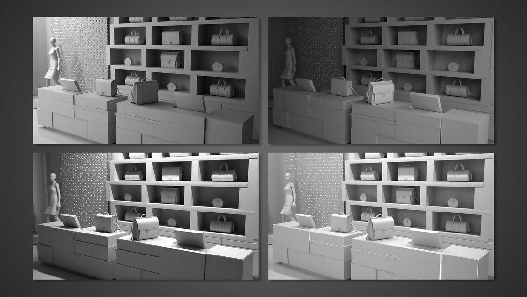 Fashion Store Interiors alejandro gasch kuhne store interiors lighting tests jpg