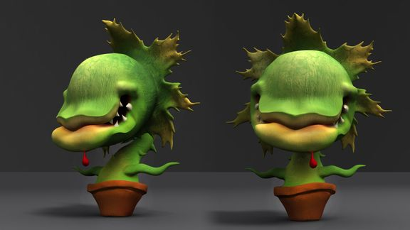 3D Cartoon Plant
