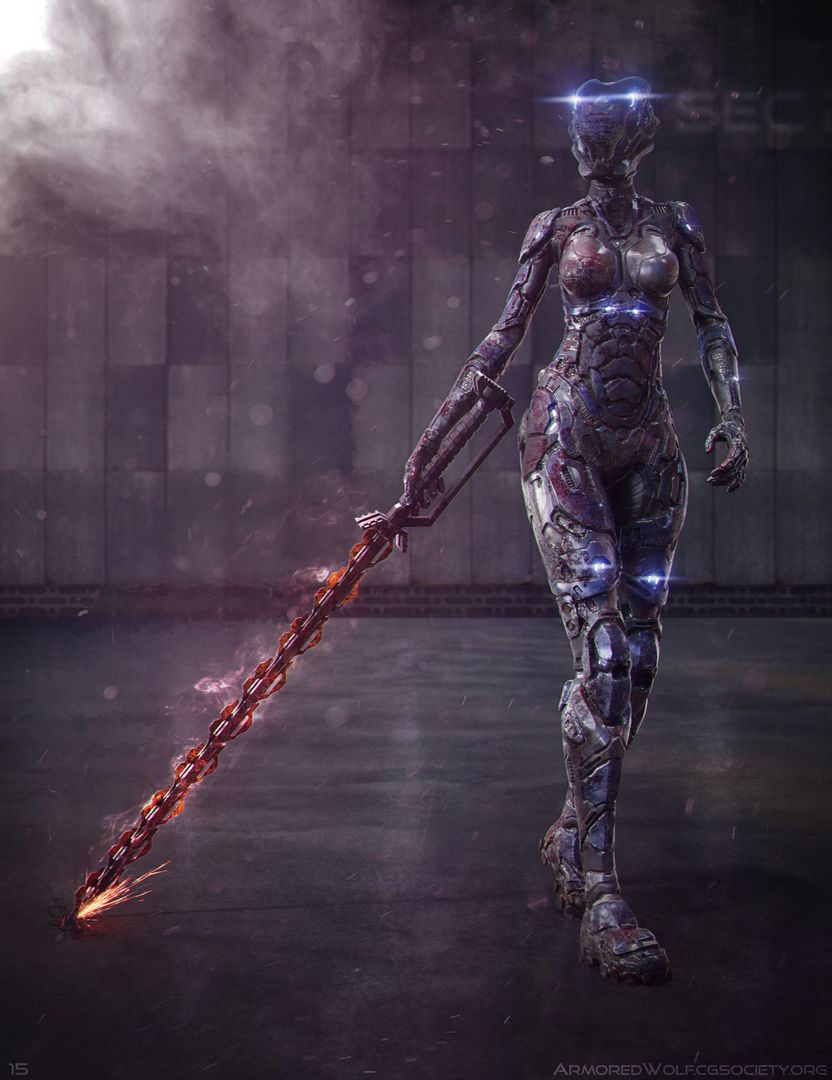 Futuristic Female Armor Concept Cerys Final jpg