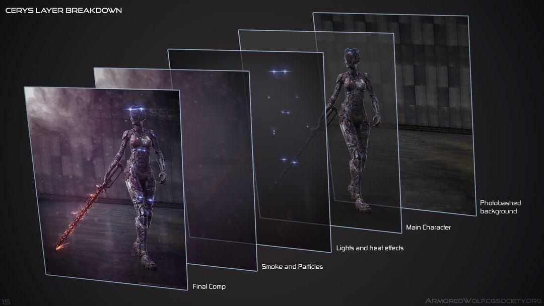 Futuristic Female Armor Concept Cerys Layers jpg
