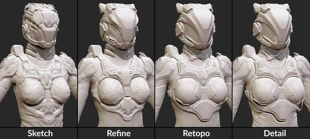 Deep Eyes juan hernandez sculpting process 2 jpg