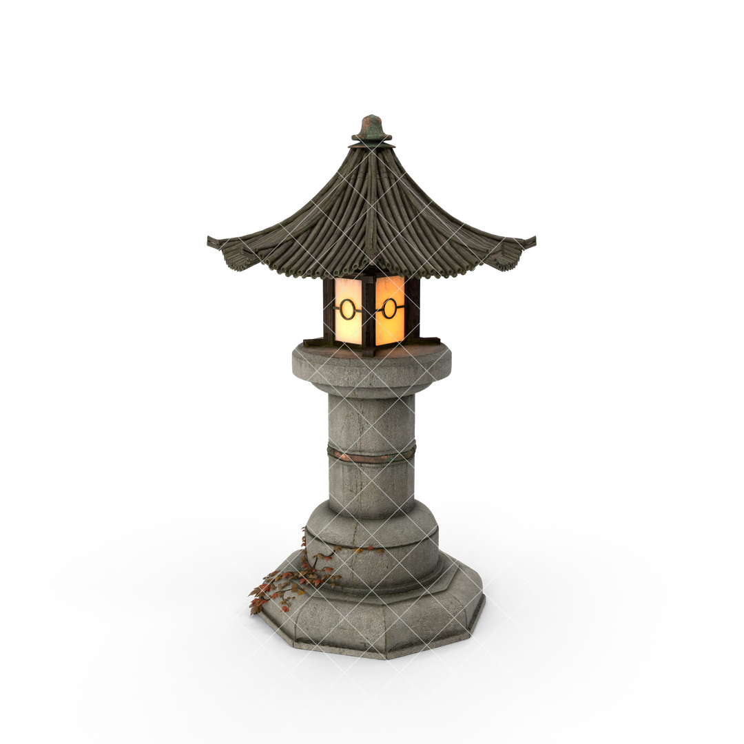 Photo Realistic 3d Models Asian20Garden20Lamp H03 watermarked 2k png