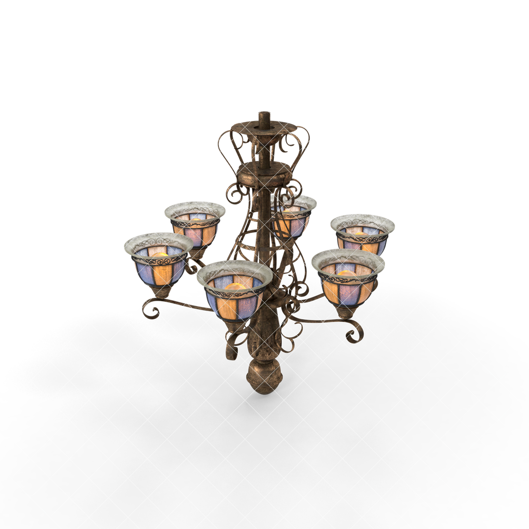 Photo Realistic 3d Models Old20Chandelier G03 watermarked 2k png