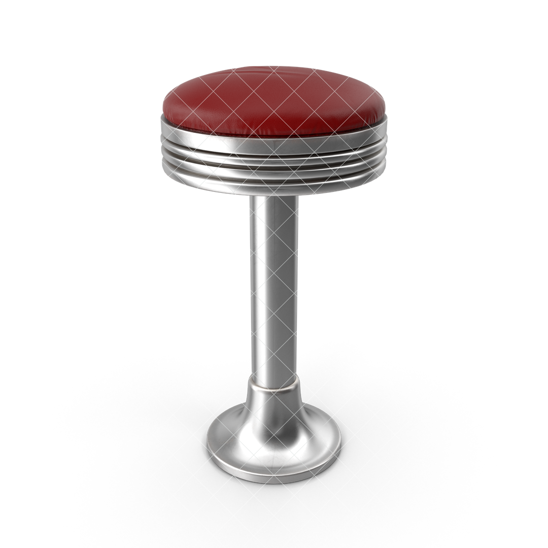 Photo Realistic 3d Models Retro20Soda20Fountain20Stool G01 watermarked 2k png