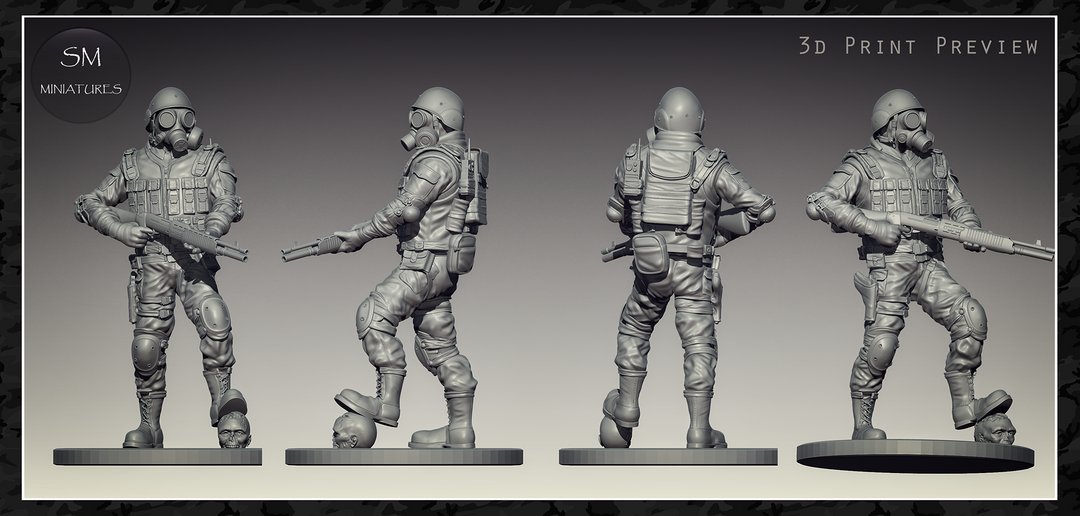 Zombie Slayer - High Poly character for 3d print 87af6421189599 562fd1241dcca png
