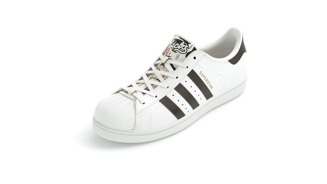 Configurable Footwear kissing skeleton adidas white jpg