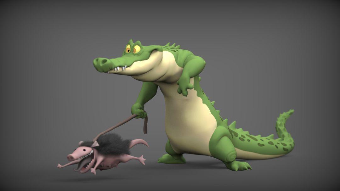 Character 3D Modeling steve rembuskos alligator 12 jpg