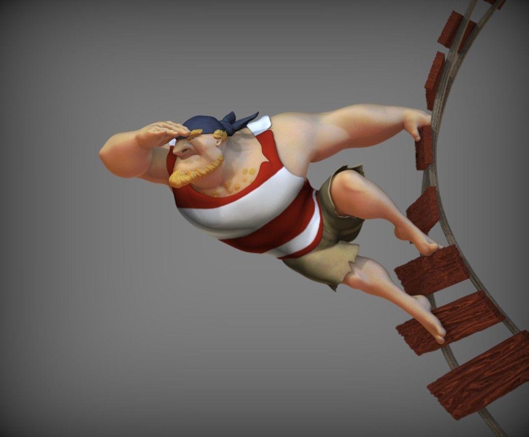 Character 3D Modeling steve rembuskos pirate 31 jpg