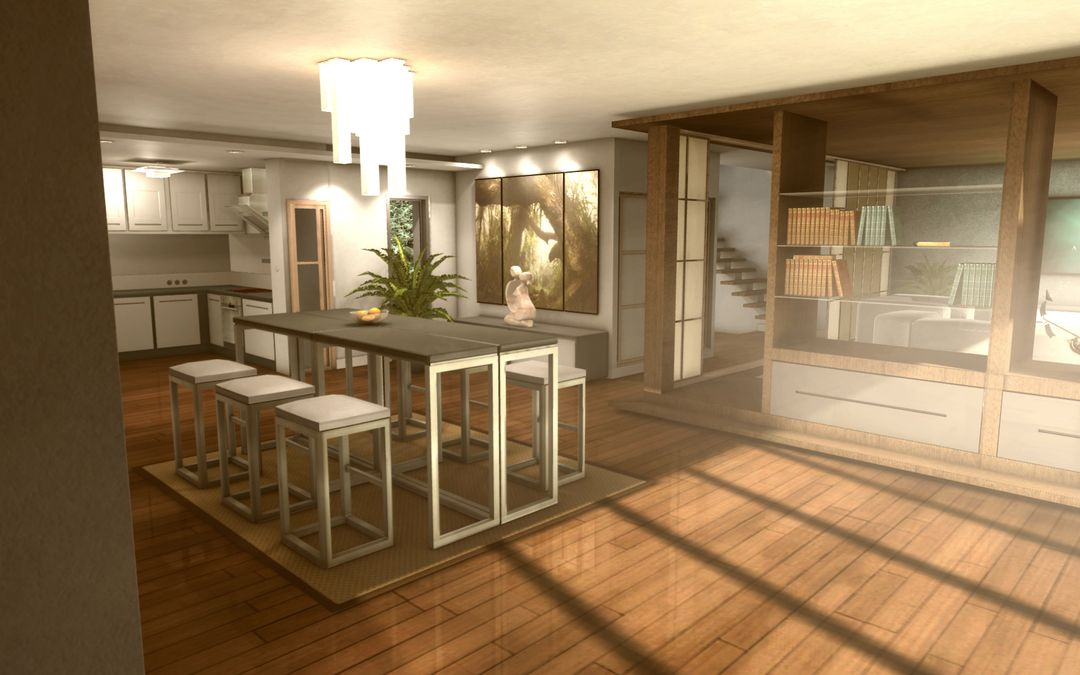 3D realtime architecture mobile application Appart03 jpg