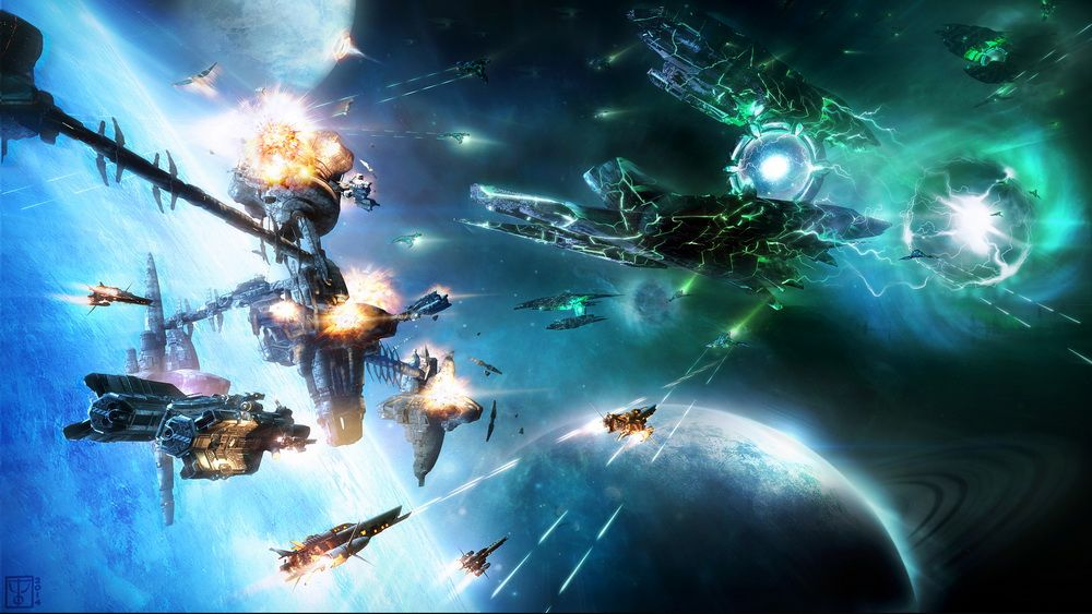 Illustrations for the game Star Conflict Star Conflict Invasion jpg