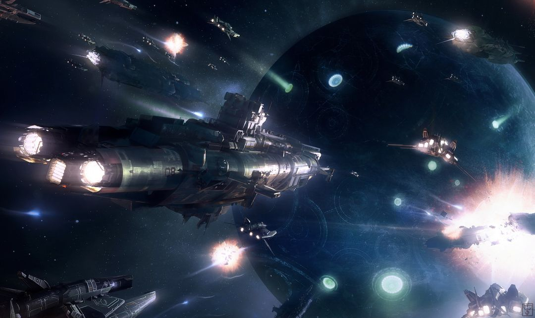 Illustrations for the game Star Conflict StarConflitct Assault on Leviathan jpg