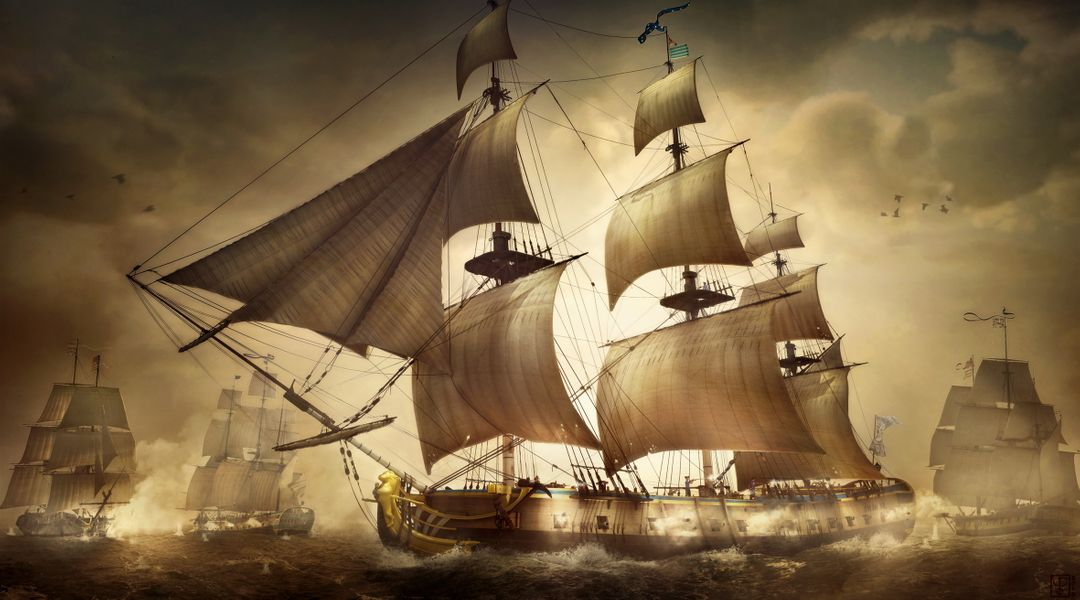Personnal illustrations work I Battle of cape Henry jpg