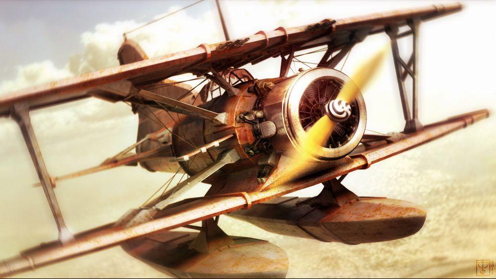 Personnal illustrations work I Chasing Plane jpg