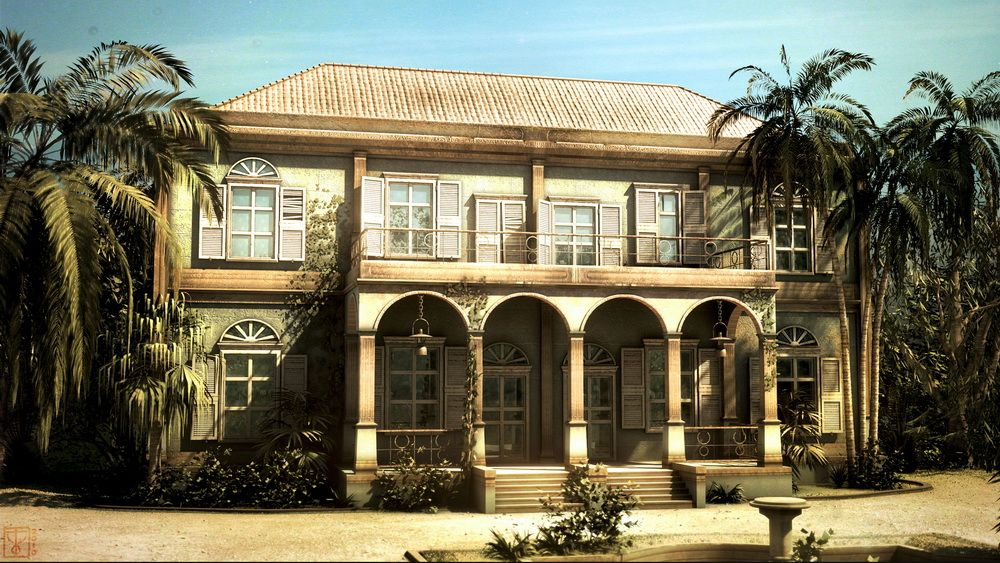 Personnal illustrations work I Colonial House jpg