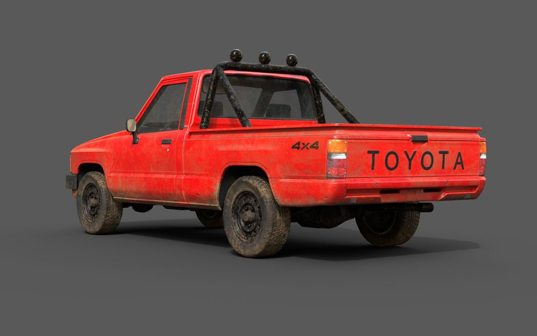 Real-Time Game-Ready Toyota Hilux 1983 Vehicle raul fernandez 1 jpg
