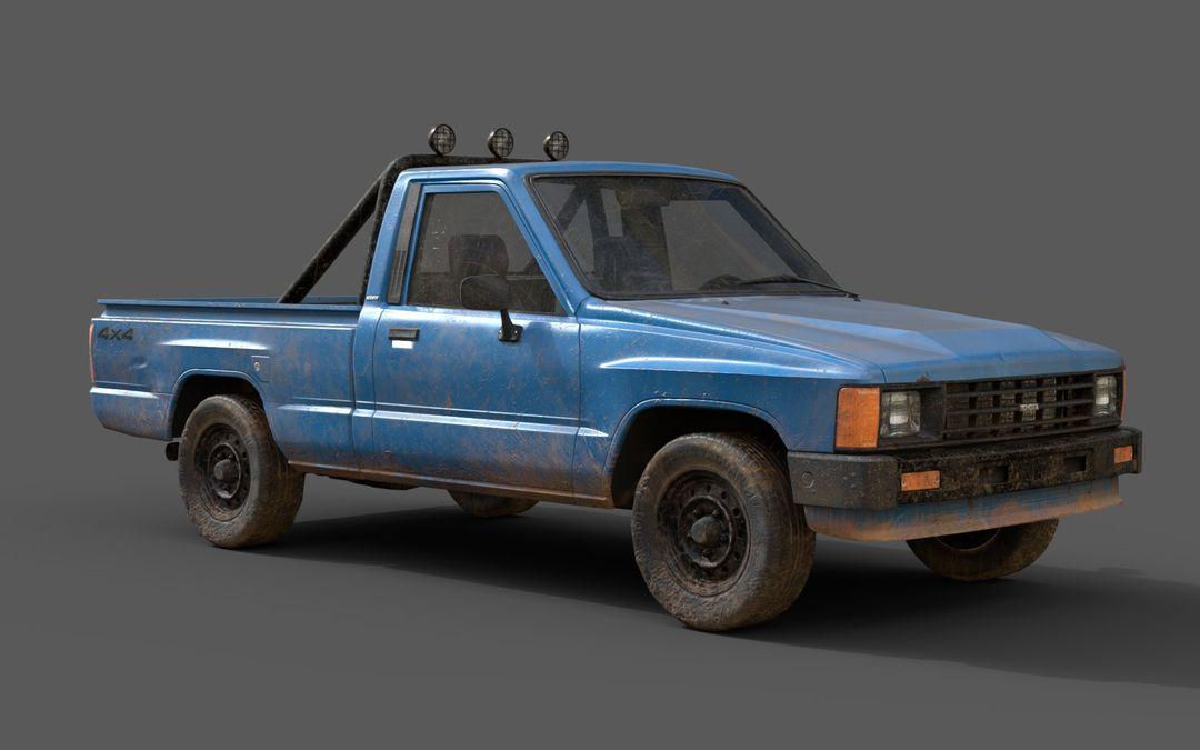 Real-Time Game-Ready Toyota Hilux 1983 Vehicle raul fernandez 15 jpg