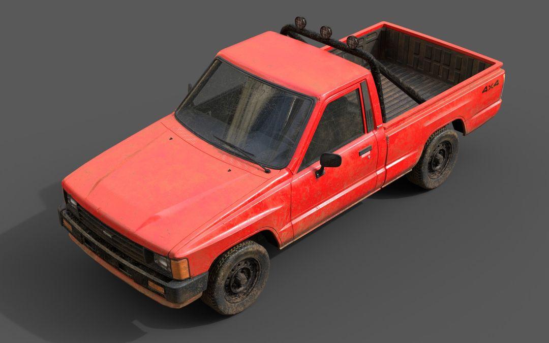 Real-Time Game-Ready Toyota Hilux 1983 Vehicle raul fernandez 6 jpg