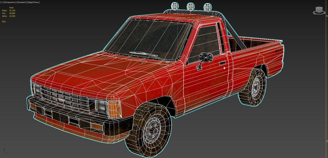 Real-Time Game-Ready Toyota Hilux 1983 Vehicle raul fernandez screen jpg