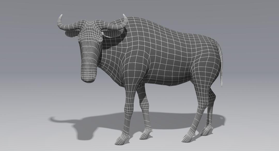 Wildebeest (Fur) Animated Wildebeest Wire 1 png