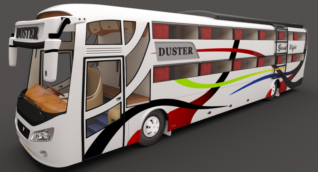Duster Sleeping Coach Travels Bus Signature 2 png