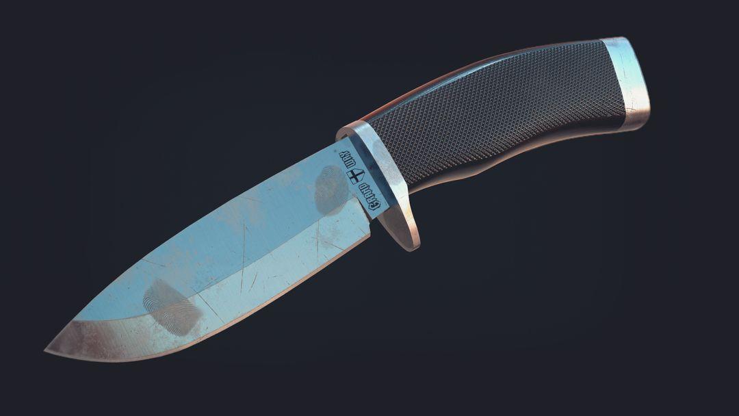 3D Modeling of a Hunting Knife Cam 01 jpg