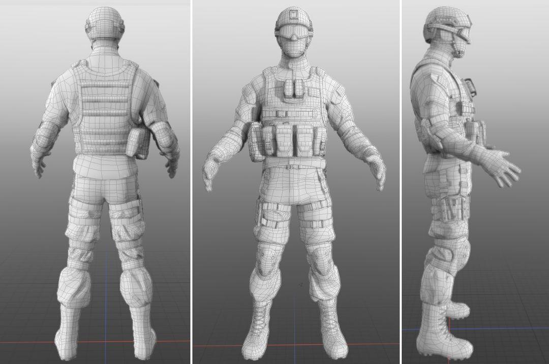 Modern soldier Topology jpg