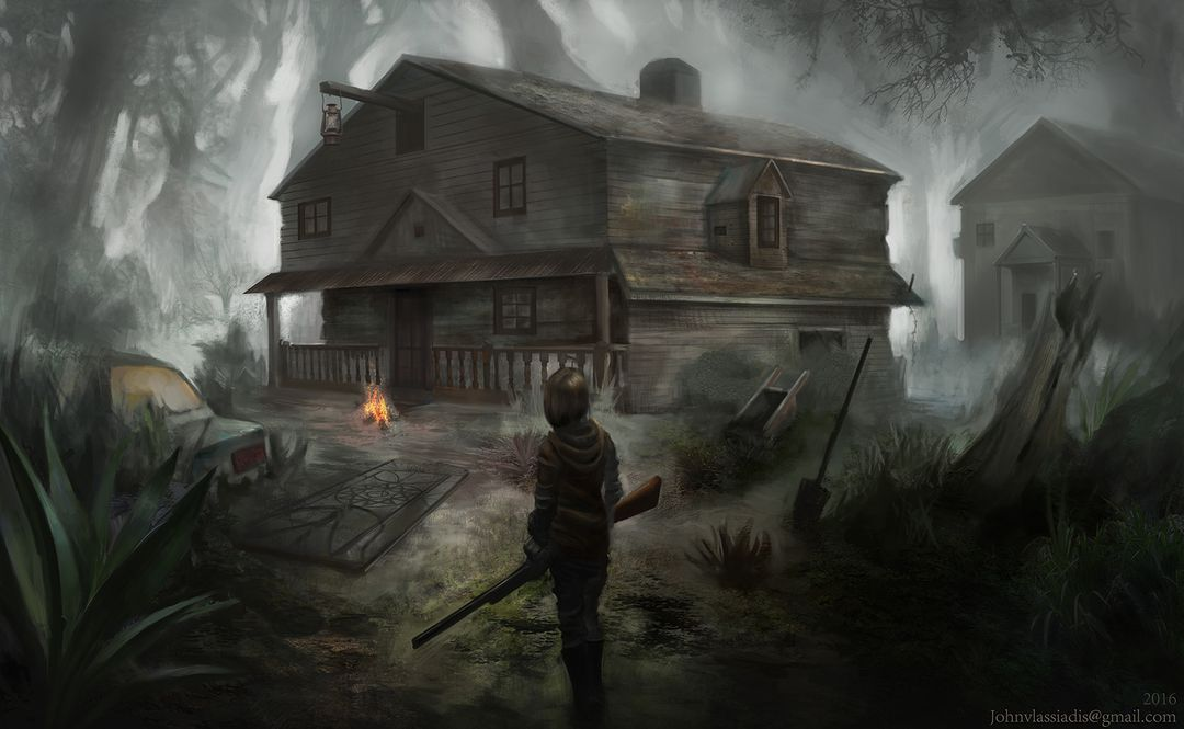 Illustration and concept art work Dads old house lowres jpg