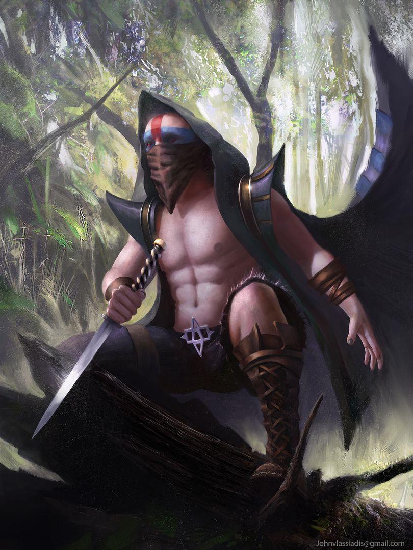 Illustration and concept art work executioner assassin jpg