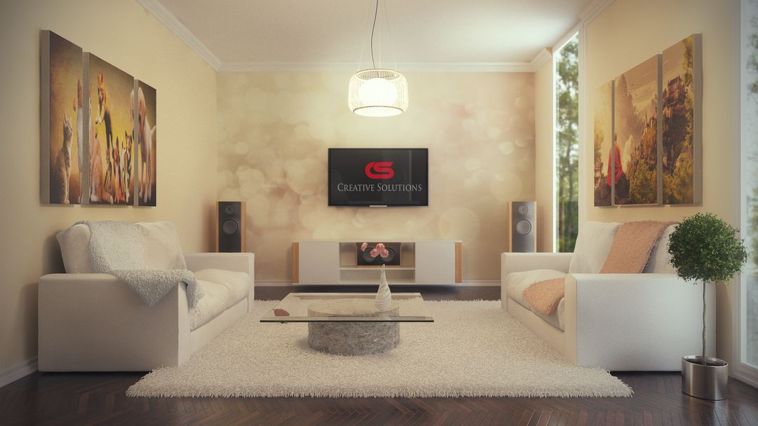 Acoustic Panels Visualization Vizualizacija akusticnih panelov dnevna soba 1 Creative Solutios jpg