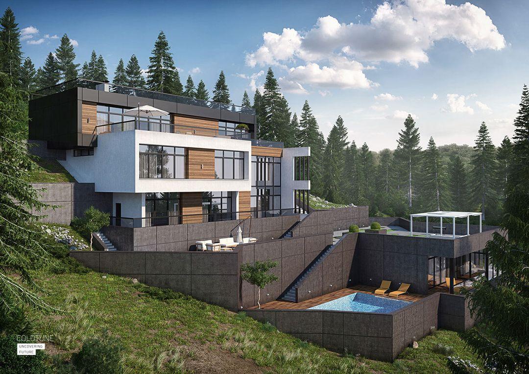 Architectural Visualization House in Lazarevskoe jpeg