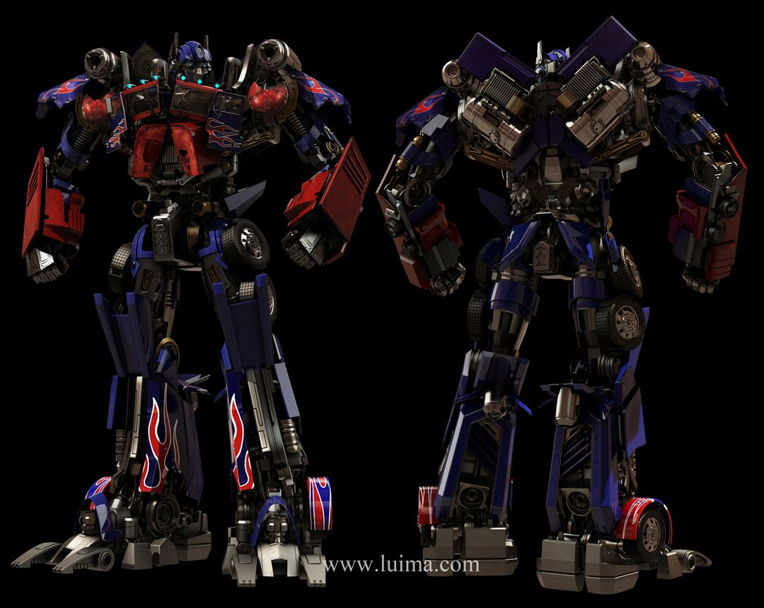 Robots and hardsurface models optimus front Backmid jpg