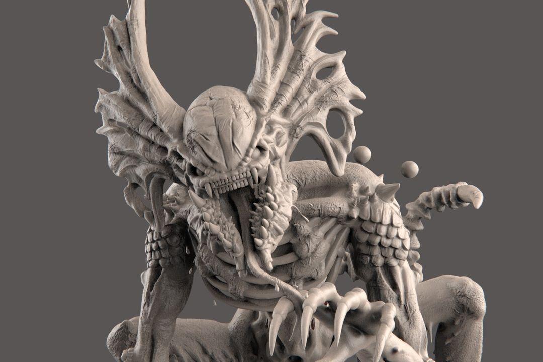 The Hunter - Alien Creature narendra keshkar creature 15 jpg
