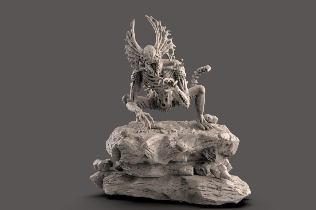 The Hunter - Alien Creature narendra keshkar creature 16 jpg