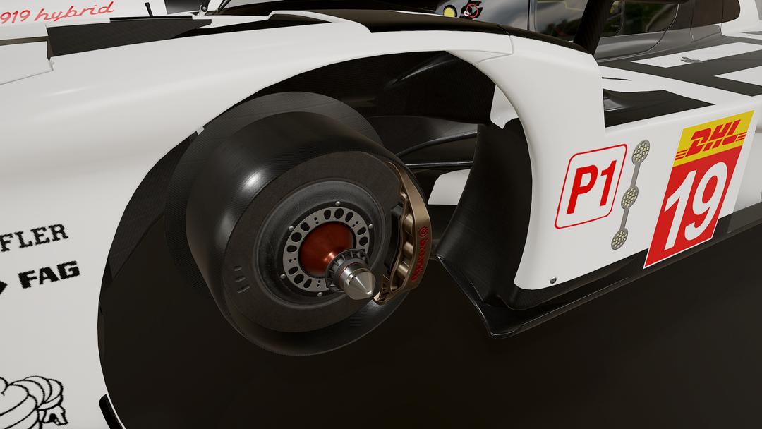 Porsche 919 LMP1 3D model and textures jasbb png