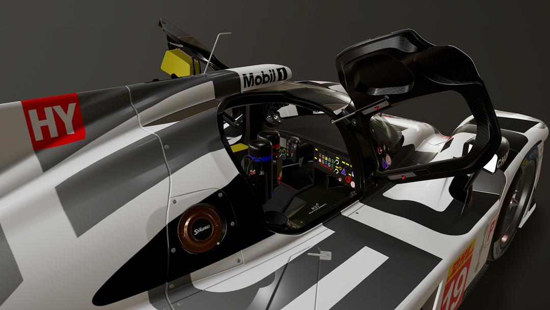 Porsche 919 LMP1 3D model and textures uyeb png